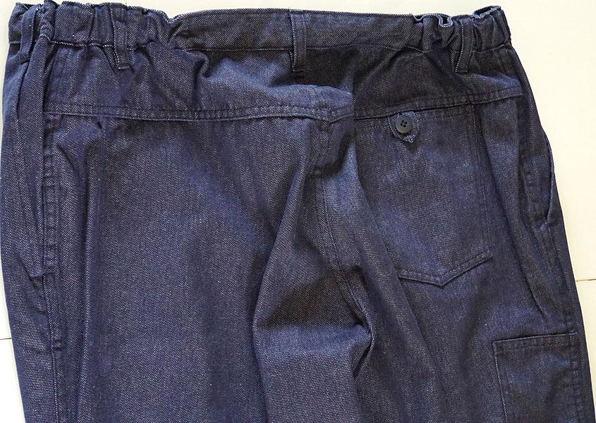 pantalon de travail paysan toile de jean souple t54. Black Bedroom Furniture Sets. Home Design Ideas